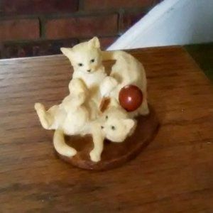 Cats Playing Figurine